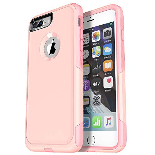 Krichit Pioneer Series Compatible with iPhone 8 Plus case/iPhone 7 Plus case Dual Layer Design,Military Grade Drop Protection Protection Case, Pioneer Series Phone Case (Pipeline Pink)