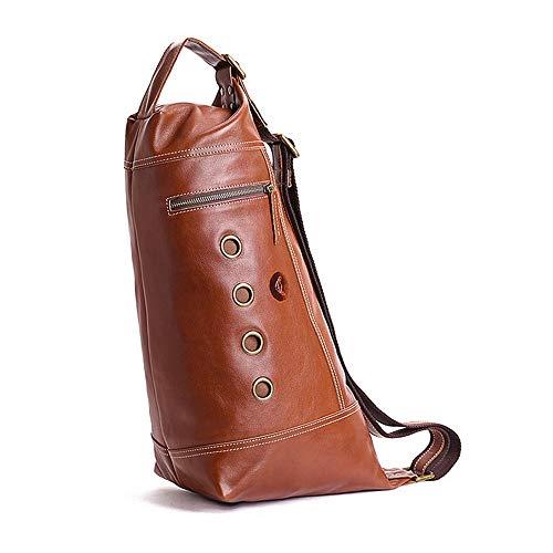 RongDuosi Vintage Handgemaakte Koeienhuid Borst Top Layer Leer Schoudertas/Messenger Bag/Multi-functie Handtas Outdoor rugzak Zwembed