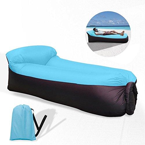 hinchable sofá sofá, impermeable–Tumbona Inflable Air sofá hinchable portátil Outdoor sofá para interior, ocio, Viajes y piscina