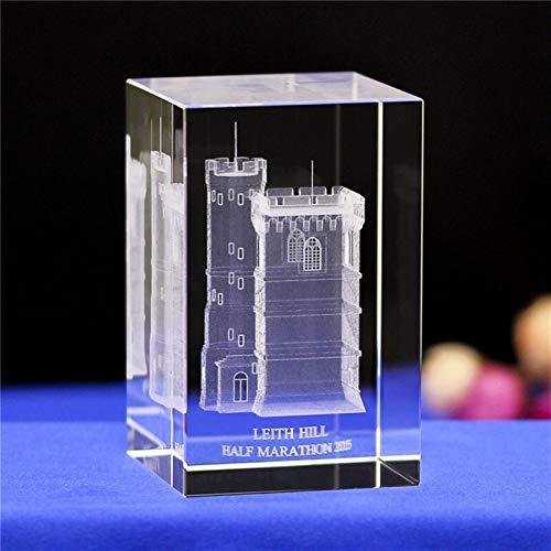 DFGDFG 3D Crystal Cube Grabado Building Modelo Figurines Miniatures Souvenirs Decoración del hogar Regalos de Lujo (Color : Miniatures 14, Size : 50x50x80mm)