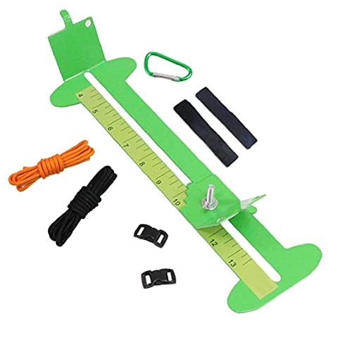 YepYes Pulsera De La Plantilla del Kit, Paraguas Cuerda Tejiendo Jig Kit Pulsera De Metal De DIY Que Hace La Herramienta De Longitud Ajustable Verde