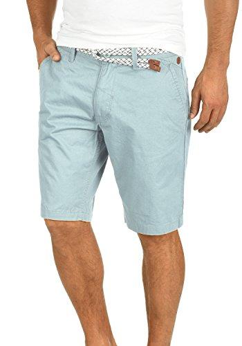 Blend Ragna Herren Chino Shorts Bermuda Kurze Hose Mit Kordel-Gürtel Aus 100% Baumwolle Regular Fit, Größe:XL, Farbe:Soft Blue (74641)
