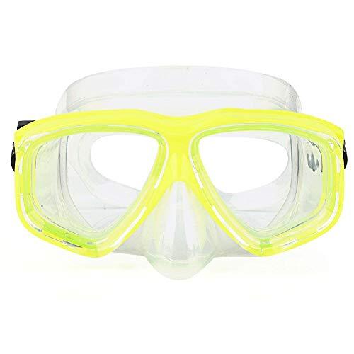 SolUptanisu Gafas de Buceo, Máscara de Buceo de Vidrio Templado Profesional Debajo Gafas de Snorkel Silicona Máscara Media Cara Equipo de Buceo para Niños y Adultos