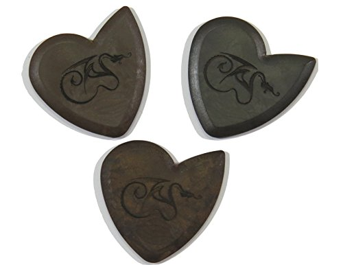 Dragon's Heart Guitar Picks Variety Pack (3) - Pure, Hardened, and Original   2.5 mm Thick