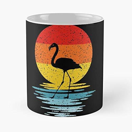 Flamingo Vintage Party Nieuwste Retro Shop 80 S Verjaardag Beste 11oz Keramische Koffie Mok Eten Eten Bite John Best 11oz Keramische Koffie Mok!