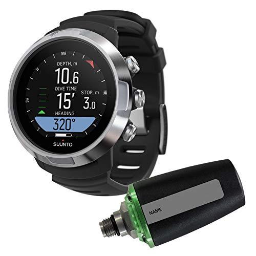 Abenteuertauchen Suunto D5 inklusiv Sender und USB Kabel - Tauchcomputer im Uhrenformat, Farbe:schwarz/Silber