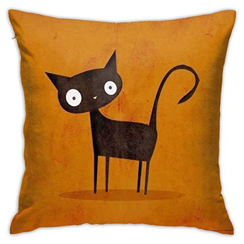 PingPing - Funda de cojín con diseño de Gatos Divertidos, para decoración del hogar, sofá, Cama y Coche, 45,7 x 45,7 cm