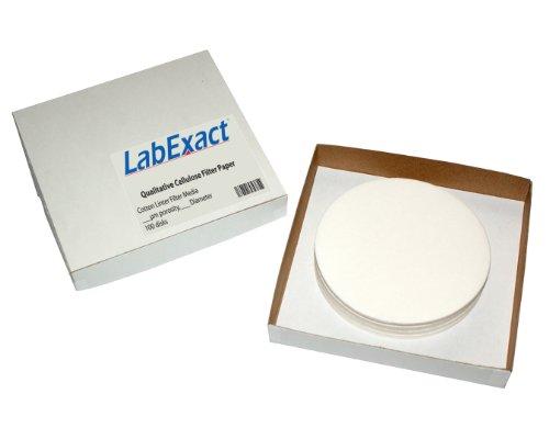 LabExact 1200012 Grade A Glass Microfiber Filter Binderless Borosilicate Glass 1.6/µm 9.0cm Pack of 100