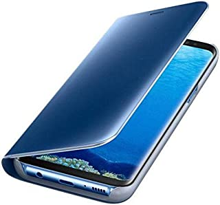 Clear View Stand Flip Cover for Samsung Galaxy A7(2017) - Blue