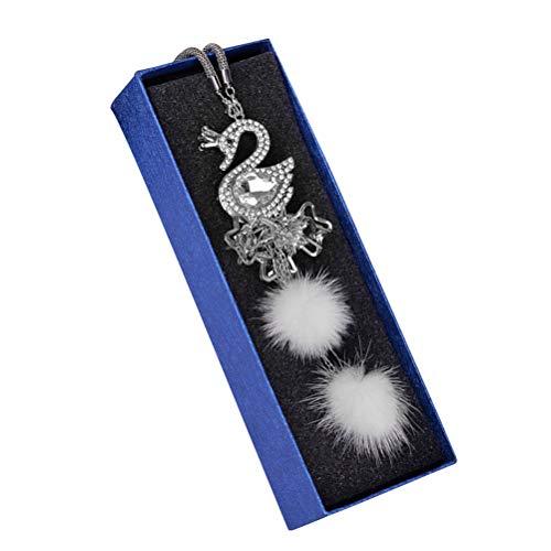 Vosarea kristall schwan auto hängen anhänger strass hängen ornament innenausstattung geschenk auto styling
