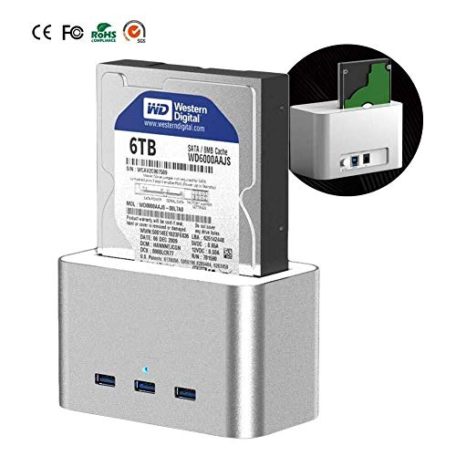 RENQUNCANG 3.5/2.5 met voedingsfuncties DC Power Box inch externe harde schijf USB 3.0 gegevensoverdracht 6 TB SATA interface HDD SSD (maat: 6 TB)