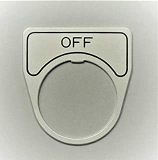 マルヤス電業 φ25スイッチ用銘板(アルミ)、表示 「OFF」、X-25-E102