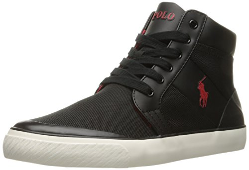 Polo Ralph Lauren Men's Isaak Nylon Fashion Sneaker, Slate Grey, 8.5 D US