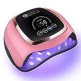 168W lampara uñas semipermanentes, Slopehill lampara led uñas profesional Secador de gel rápido secado de uñas LED UV lámpara para salón de esmalte de gel