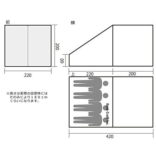 BushCraft(ブッシュクラフト)ブッシュクラフターズテント4人用フルセット28253