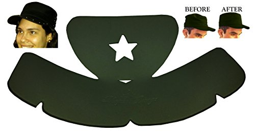 2Pk. Military or Cadet Hat Crown Half Shaper| Army Cap Shaper| Hat Liner| Hat Panel Support Insert| Hat Reducer| Brim and Crown Hat Care Accessories| Hat Storage| Hat Crown Sizing Inserts (Black)
