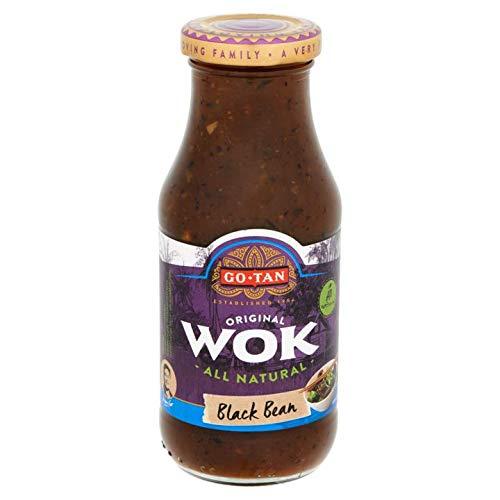Salsa di fagioli neri   Go-Tan   Originale Wok All Natural Black Bean 240ml   Peso totale 240 grammi