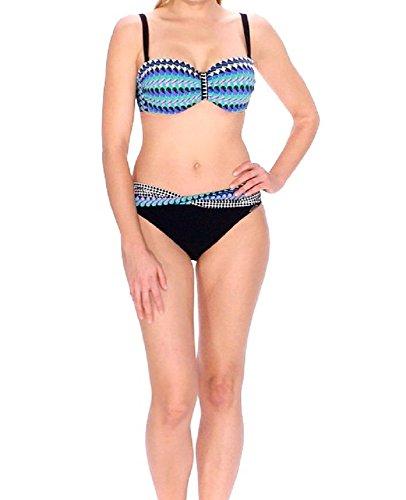 Sunflair Bügel-Bikini Oval Lines mit Softschalen 21135-910 schwarz/Multicolor Gr.38C