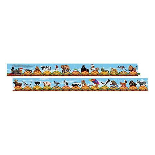 Melissa & Doug Alphabet Train Jumbo Jigsaw Floor Puzzle - Letters and Animals (28 pieces, 10 feet long)
