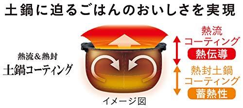タイガー魔法瓶(TIGER)炊飯器3.5合圧力IH熱流&熱封土鍋コーティング炊きたてアーバンブラックJPD-A060KE