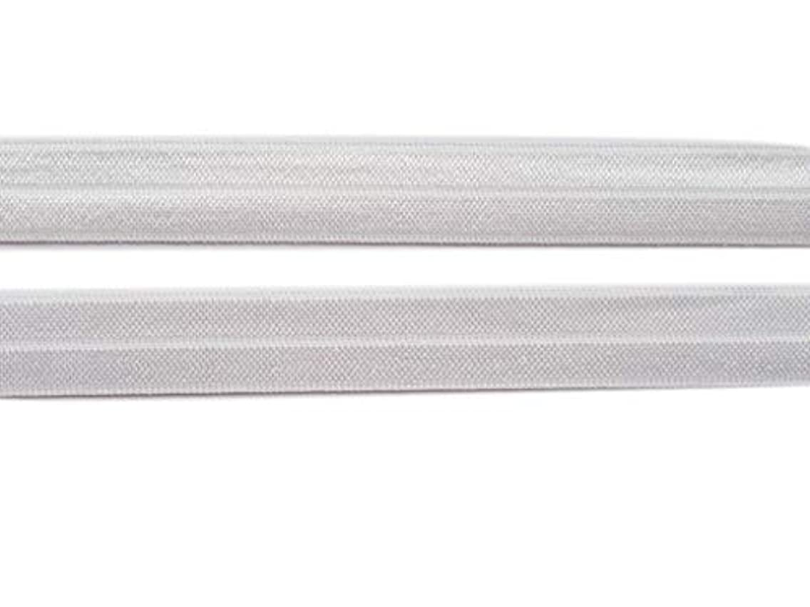 XiXiboutique 20 Yards Foldover Elastic FOE by The Yard for Infant Headbands and Hair Ties 5/8 inch(White)