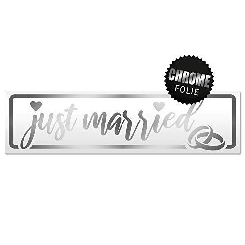 Kiwistar Just Married Ringe Hochzeit Magnetschild Schild magnetisch