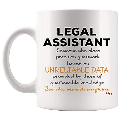 Chistes Asistentes Asistente Legal Ley taza Taza de café de la mordaza tazas - Abogado Asistente Legal Estudiante Abogado Ley Aide secretario de la corte del regalo de cumpleaños Reportero Hombres Muj