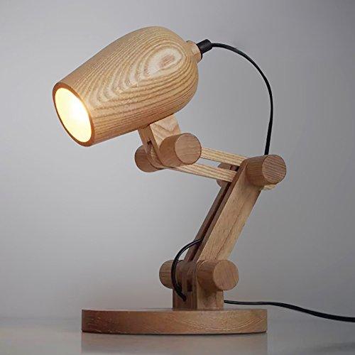 Tafellamp, decoratief, bureaulamp, 220 V, E27, modieus, eenvoudig, hout, stof, voor slaapkamer, nachtkastje, kantoor, woonkamer, ideeën, tafellamp, wikkellamp