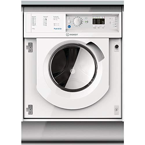 Lave linge sechant encastrable Indesit BIWDIL75125EU - Lave linge Frontal séchant encastrable - Integrable - capacité : 7 Kg - Vitesse d'essorage maxi 1200 tr/min - Classe B