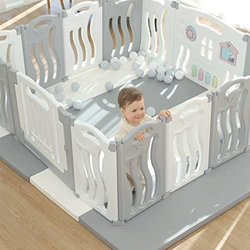 Pliable bébé parc bébé pliant jouer stylo enfants centre dactivité sécurité jouer cour maison intérieur extérieur nouveau stylo avec planche à dessin (Thème océan)
