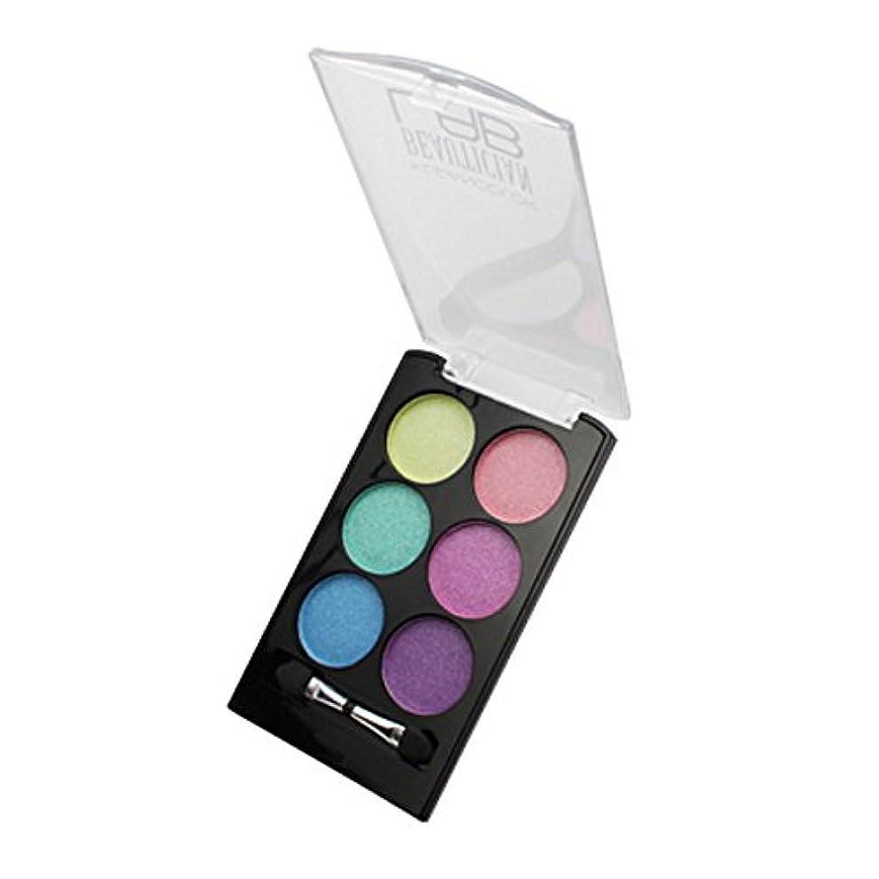 駐地確認疲労(6 Pack) KLEANCOLOR Beautician Lab Shimmer Shadow Pallete - Cutting Edge (並行輸入品)
