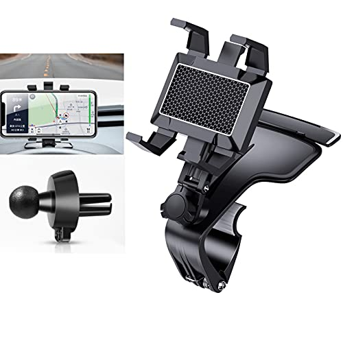 1200 Degree Rotation Universal Car Dashboard Cell Phone Holder, Universal Auto Grip Car Phone Mount Car Navigation Compatible with All iPhone Android Smartphone