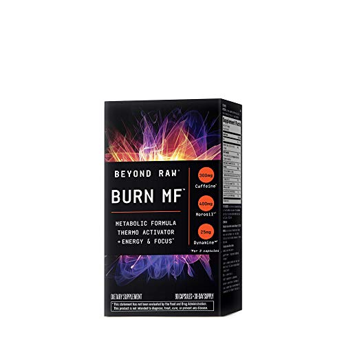 BEYOND RAW Burn MF | Metabolic Formula, Thermo Activator, Supports Energy and Focus | 90 Capsules