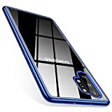 TORRAS Galaxy Note 10 Plus Case/Galaxy Note 10 Plus 5G Case Crystal Clear Ultra-Thin Slim Fit Soft TPU Cover Compatible with Samsung Galaxy Note 10 Plus 6.8 inch, Blue
