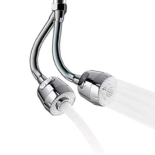 360-Degree Swivel Faucet Extension Kitchen Sink Faucet Aerator Tap Aerator Faucet Nozzle Faucet Extender for Kitchen, Bathroom Faucet