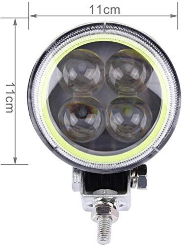 A-Generic LED Faros de Bicicleta 12V 12W 960LM 4 LED 180 Grados Coche Moto Luz Luz de Trabajo LED (Luz Blanca)-Luz Blanca