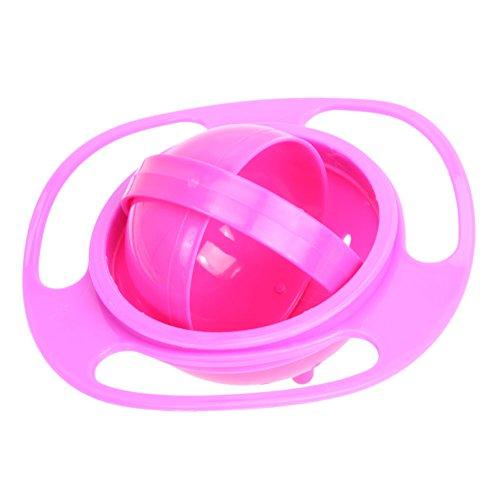 JUNERAIN Baby Futternapf Cute Baby Gyro Schüssel Universal 360 Spill-Proof Schüssel drehen
