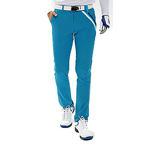 YUIT-G Herrenhosen, Hochelastische Hosen Golfhosen Frühjahrs- Und Herbstsporthosen Für Golf/Alltagshosen,Blau,S
