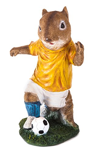 The Paragon Garden Decor - Squirrel Statue for Soccer Fans, Sports Outdoor Decoration