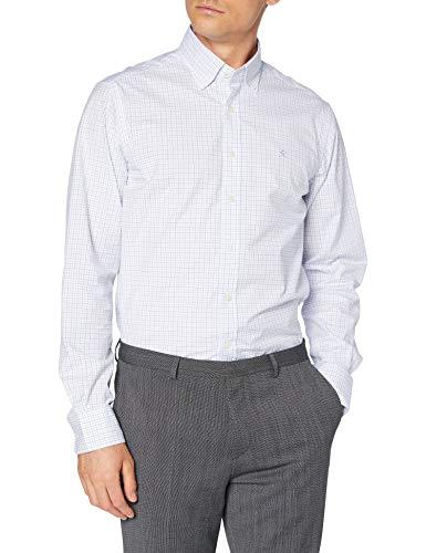 Hackett London White Based Chk Camisa, Azul (5bpsky/Blue 5bp), 42 (Talla del Fabricante: Large) para Hombre