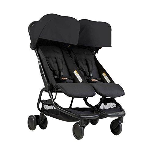 Mountain buggy Nano Duo v1de gemelos, carrito–Black Negro