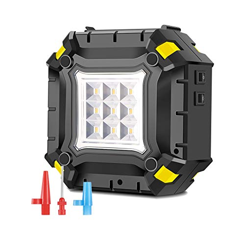 Compresseur D'air Portatif Gonfleur De Pneu De Voiture 12V Pompe Arrêt Automatique Pression De Pneu Préréglée Et Lumière LED