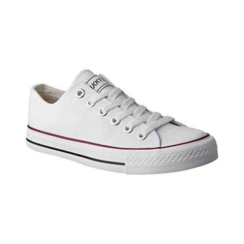 Elara Unisex Sneaker Low top Turnschuh Textil Chunkyrayan 36-46 01-A-Weiss-42