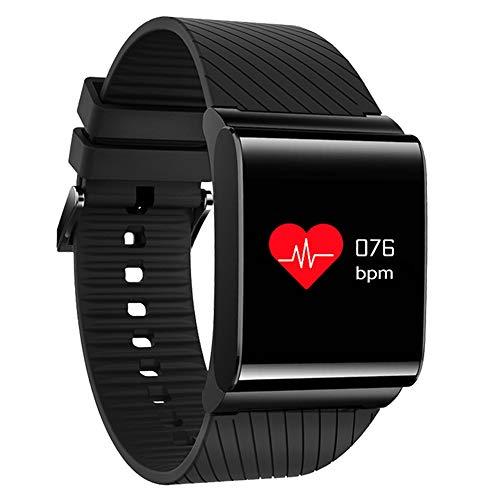 YUYLE Smartwatches kleurrijk beeldscherm Smart Band Sport Fitness Armband bloeddrukmeter armband stappenteller beeldscherm horloge, zwart