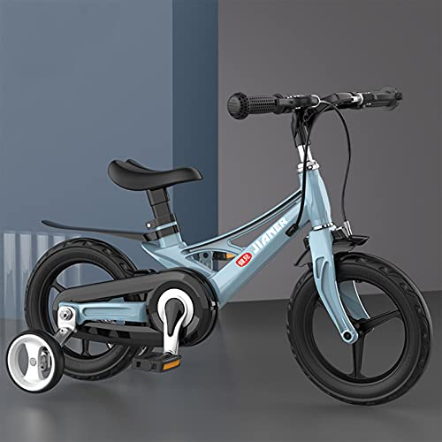 Bicicleta para niños Bicicletas niños 14 Pulgadas para niños y niñas de 12/14/16 Pulgadas con Ruedas de Entrenamiento(7 Colores),Azul,14INCH