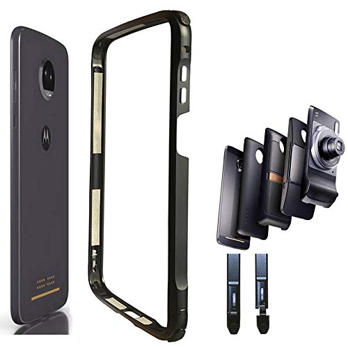 DNGN Moto Z3 / Z3 Play Case Bumper,Mods Compatible Luxury Aluminum Metal Frame Cover 4 Corners Shockproof Protective Slim Fit for Motorola Moto Z3/Z3 Play (Moto Z3/Z3 Play Bumper)