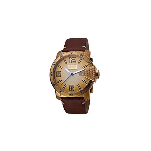Just Cavalli Reloj Analógico para Hombre de Cuarzo con Correa en Cuero JC1G015L0055
