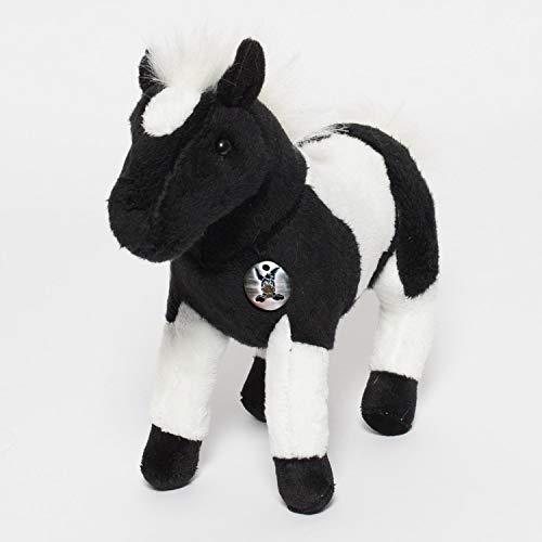 Kuscheltiere.biz Pferd NAKAI Pferdchen Pony Indianerpferd schwarz-weiß 25 cm Plüschtier