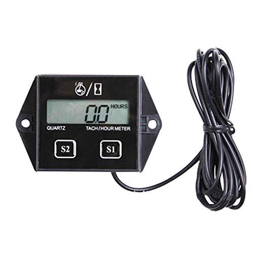 Tivivose Motor de Gasolina Pantalla LCD tacómetro Temporizador Abs Inductor diseñar diseño de bajo Voltaje, Modo de Velocidad se Puede Ajustar 1 PCS