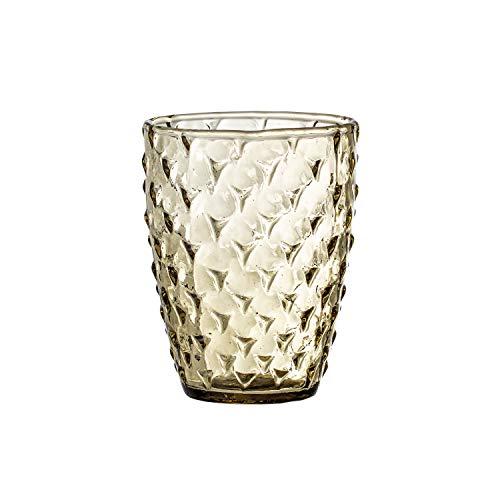 Bloomingville Trinkglas mit Olivenprägung, recyceltes Glas
